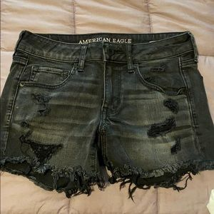 Black Denim American Eagle Shorts